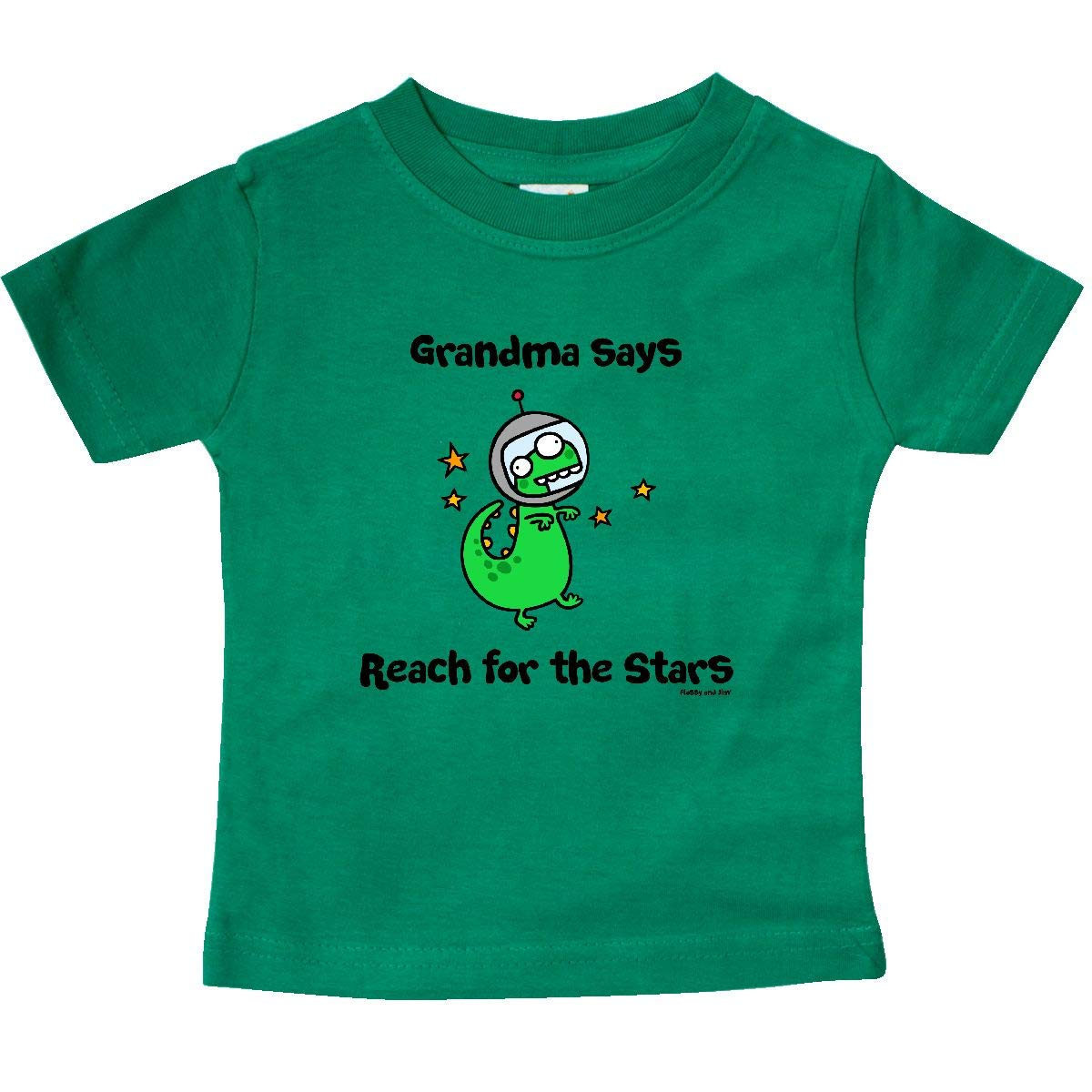 inktastic Grandma Says Reach for The Stars Baby T-Shirt Flossy and Jim