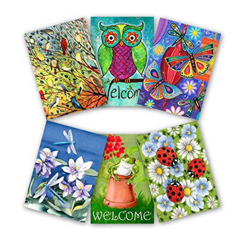 Toland Home Garden 12.5 x 18 Inch Decorative Garden Friends 6-Pack Garden Flag Bundle
