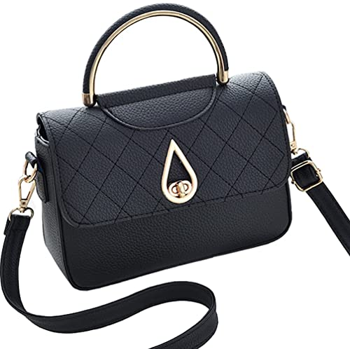 Covelin Women s Small Leather Handbag Tote Shoulder Crossbody Bag Black 495d926325cde