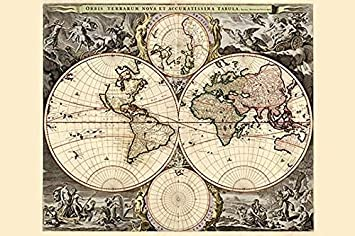 Amazon buyenlarge world map 18 x 27 paper poster edition buyenlarge world map 18quot x 27quot paper poster gumiabroncs Choice Image