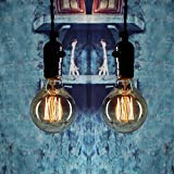 Edison Bulb 40W - Elfeland Vintage Antique Style Incandescent Light Bulbs - Squirrel Cage Filament - Classic Amber Glass - Dia. 80mm - E26/E27 Medium Base - Dimmable - 2 Pack