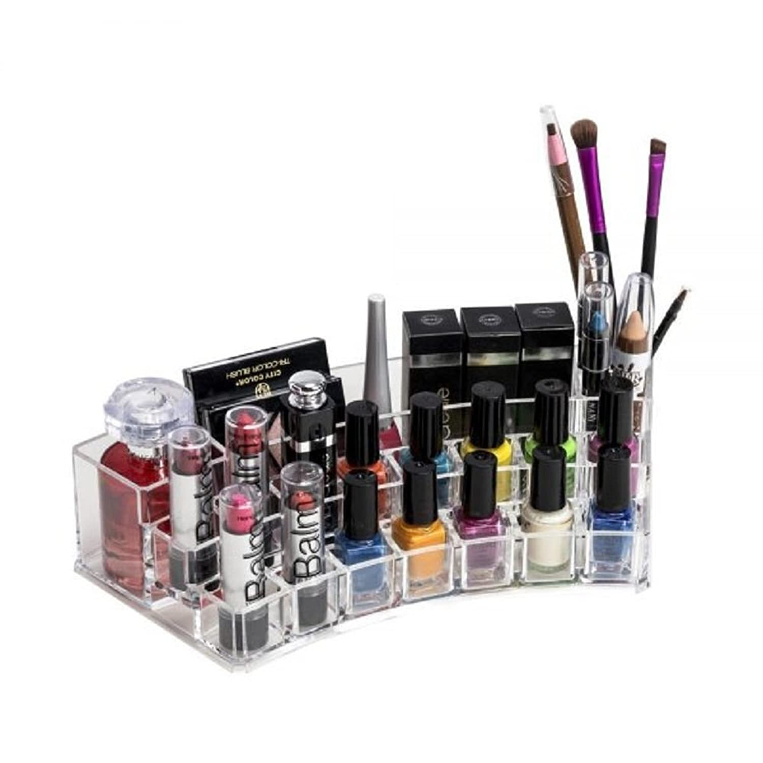 Buy Orine Heavy Acrylic Sector Cosmetic Makeup Organizer Online At