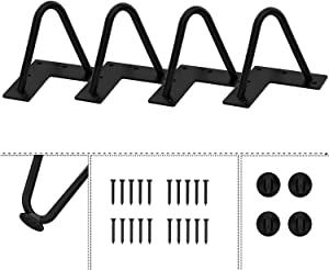 Agoland 4 Inch Black Hairpin Legs (4pcs), Heavy-Duty Metal Furniture Legs, Mid-Century Modern Furniture Legs, Coffee Table Legs, 4 Washers and 20 Screws Easy to Install (4 Inch)