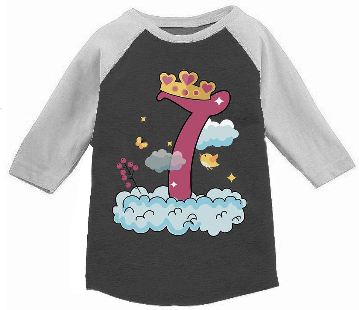 Awkward Styles 7th Birthday T-Shirt Princess Raglan Shirt Kids