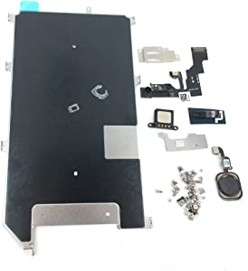 E-repair Screen Metal Bracket Front Camera Flex Cable Small Parts Set Replacement for iPhone 6S Plus (Black)