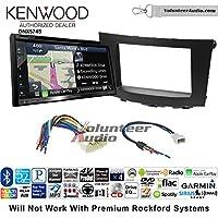 Volunteer Audio Kenwood DNX574S Double Din Radio Install Kit with GPS Navigation Apple CarPlay Android Auto Fits 2010-2013 Suzuki Hizashi