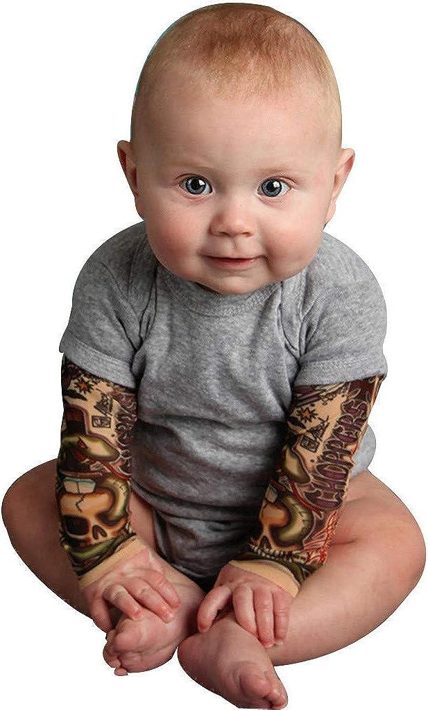 Skang Bodies Peleles Ropa Bebé Niño Tatuaje Impresión Manga Larga CóModo Bebé Mono Trajes Ropa Body Infantil para bebés: Amazon.es: Ropa y accesorios