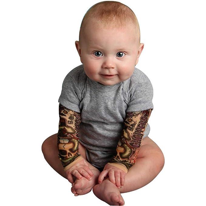 Bebé recién Nacido Tatuaje Impreso Body Manga Larga otoño Mono ...