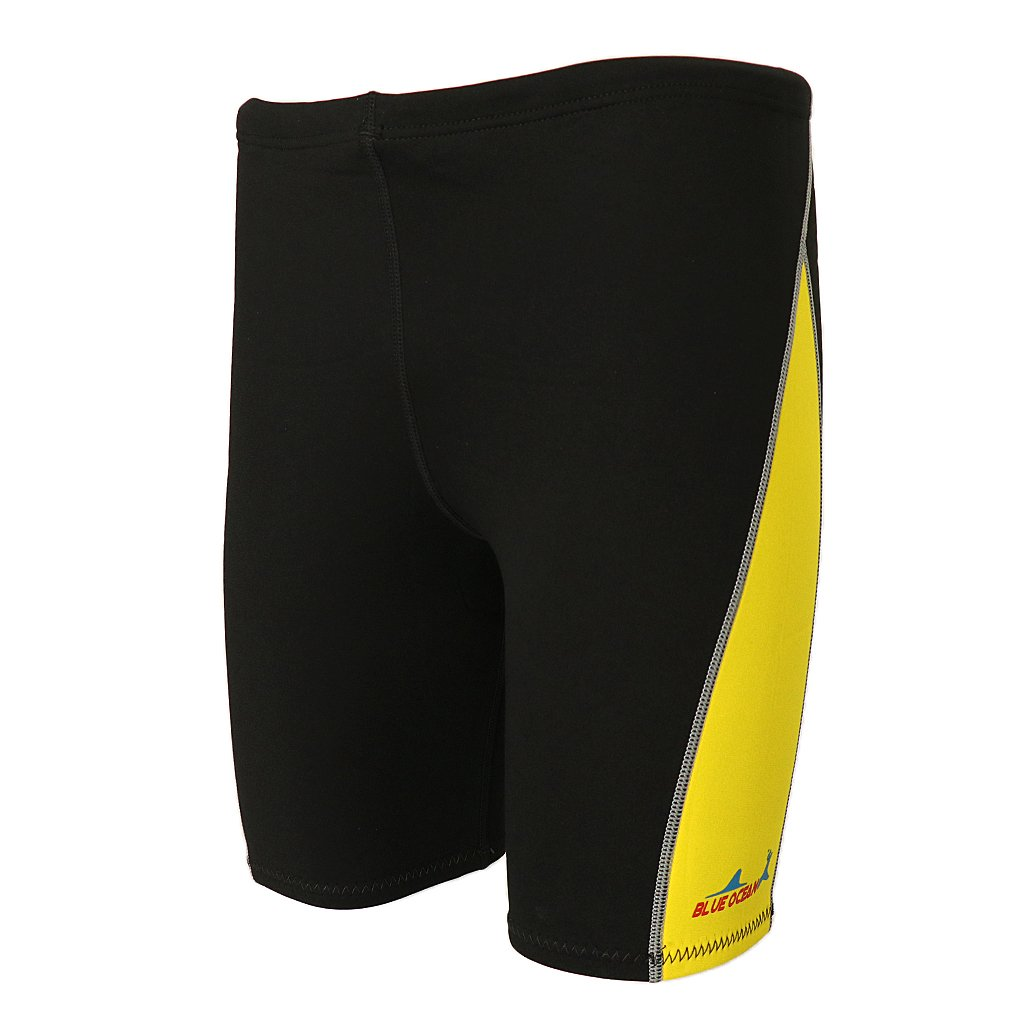 MonkeyJack 1.8mm Neoprene Men's Wetsuits Shorts Winter Warm Swimwear Trunks Diving Snorkeling Swimming Pants - Yellow, 3XL by MonkeyJack
