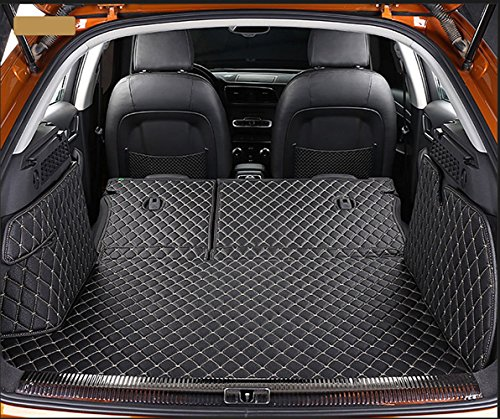 Cayenne Accessories Porsche - Worth-Mats 3D Full Coverage Waterproof Car Trunk Mat for Porsche Cayenne 2011-2017 with block net on the left side of trunk - Black