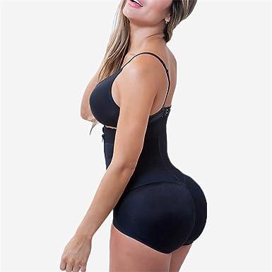 fc120354bf Plus Size Hot Latex Women s Body Shaper Post Liposuction Girdle Clip and Zip  Bodysuit Vest Waist