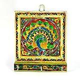 Little India Meenakari Artwork 3 Key Stand in White Metal 286