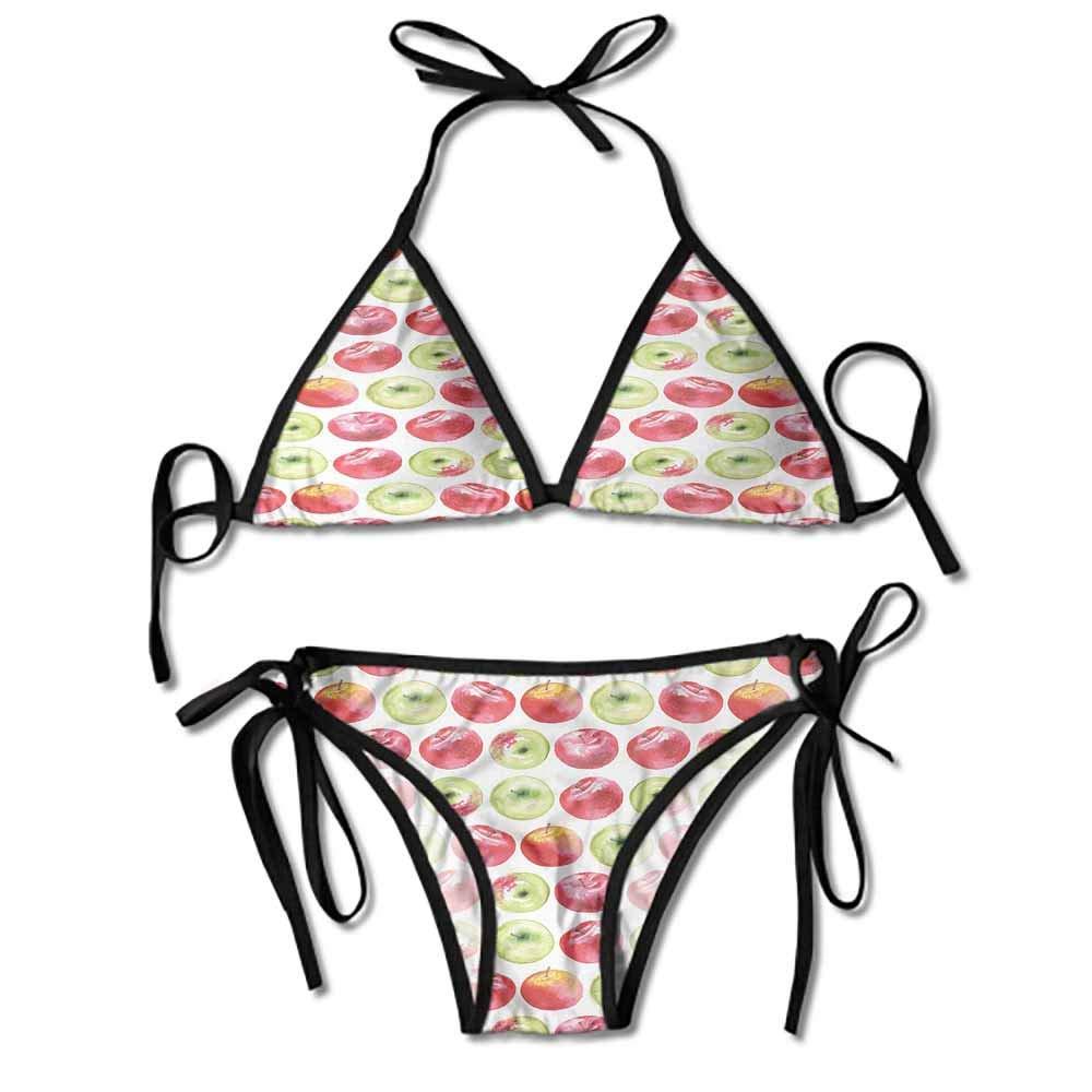Bikini Solid Set Swimsuit Pushups Filled Bra Swimwear Beachwear for Women