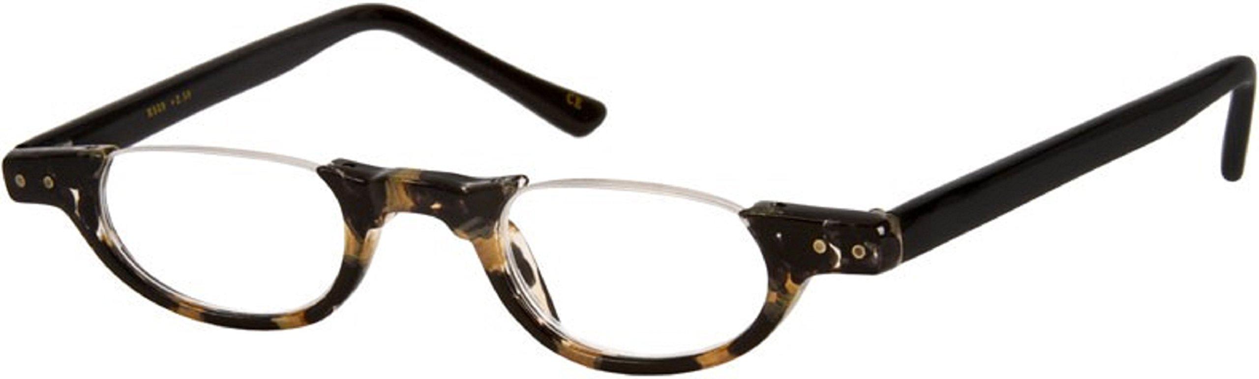 f722c3b204b5 The Hunter Colorful Retro Half Under Frame Rimless Round Vintage Reading  Glasses +1.50 Black and