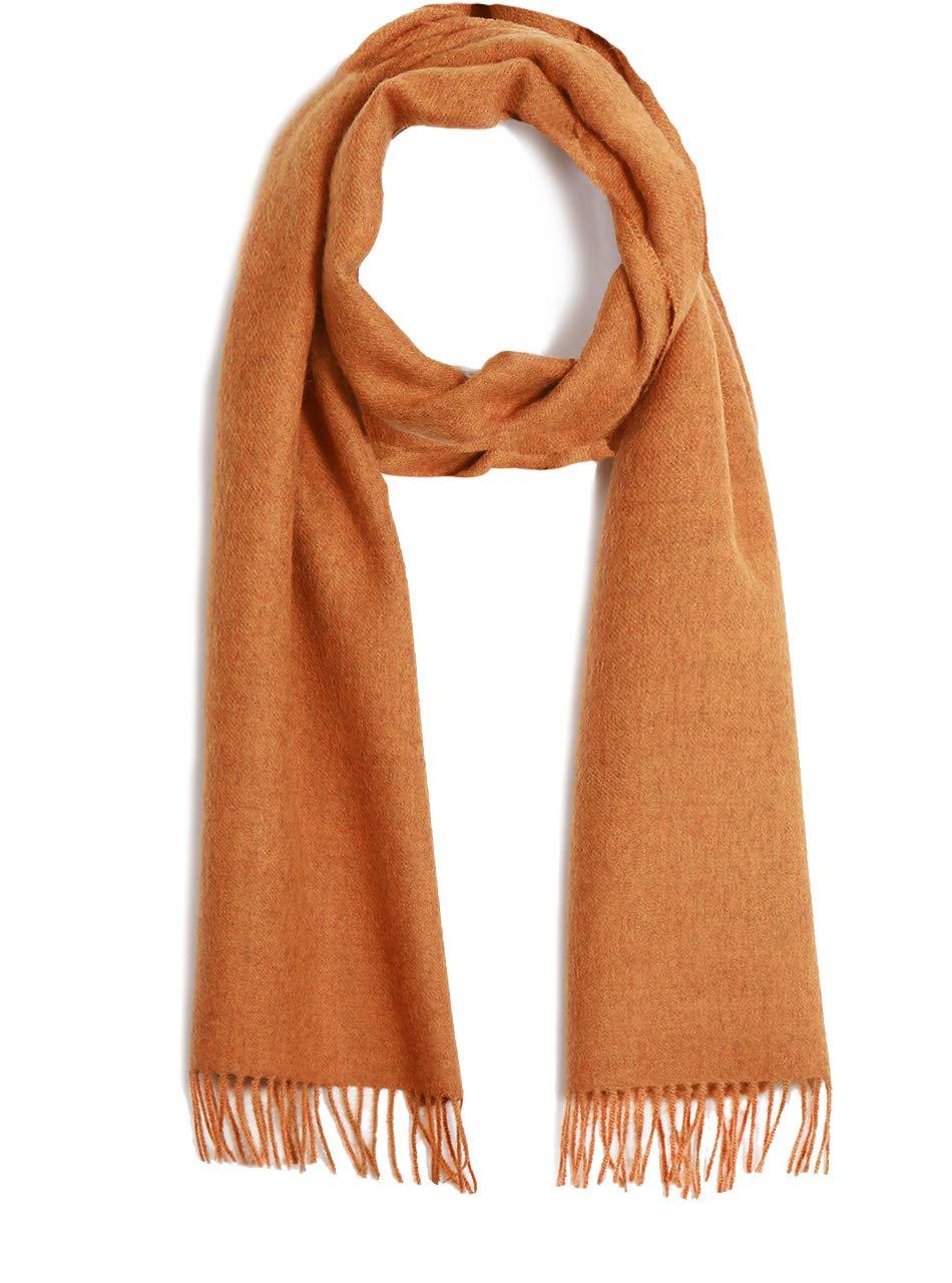 Tweed Alpaca Scarf - 100% Baby Alpaca Wool - Unisex (Amber Tweed)