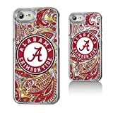 Keyscaper NCAA Alabama Crimson Tide UA Paisley Glitter Case for iPhone 8/7/6, Clear
