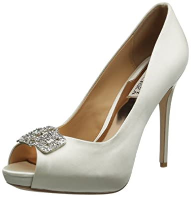 Womens Shoes Badgley Mischka Tory Vanilla Satin