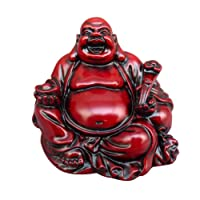 Vosarea Buddha Maitreya Resina Statua Buddha Figurine Ornamento Decoration da Tavolo casa uffici (2Pollici)
