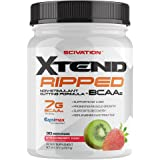 Scivation Xtend Ripped BCAA Powder, Branched Chain Amino Acids, BCAAs, Strawberry Kiwi, 30 Serving