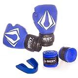 Kit Boxe Muay Thai Luva Best + Protetor Bucal + Bandagem 3m