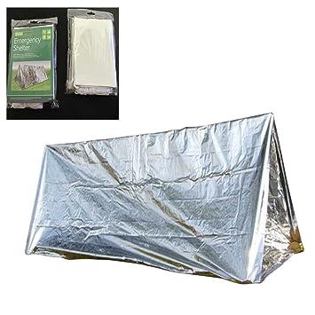 rebuty Sportsman Kit de tienda de campaña manta de rescate de supervivencia de emergencia y saco de dormir para Camping senderismo: Amazon.es: Deportes y ...