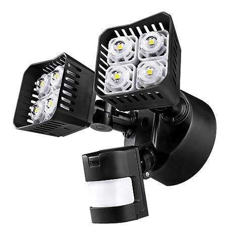 Sansi Nueva tecnología focos LED exterior con sensor de movimiento 30w, 3400lm, 5000k,
