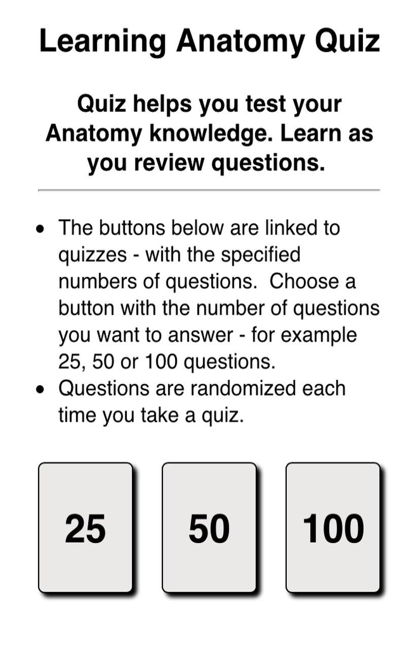Michigan Anatomy Practice Questions