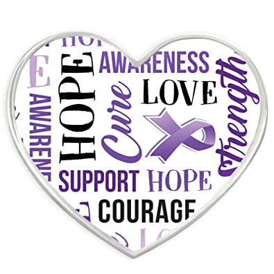 Amazon Pinmart Purple Heart Wwords Domestic Violence Awareness