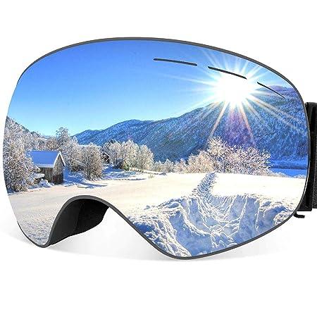 ThyWay Ski Goggles Anti-Fog Double Lens Big Spherical Skate Snowmobile Snowboard Goggles