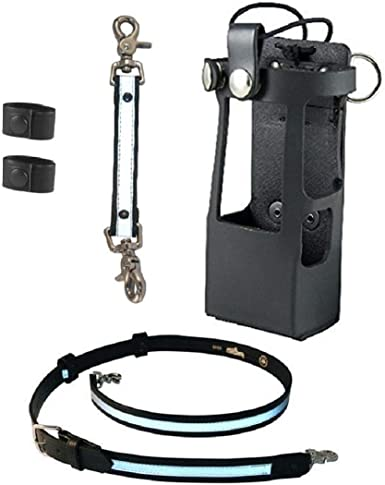 Boston Leather Anti-Sway Strap for Firefighters Radio Strap