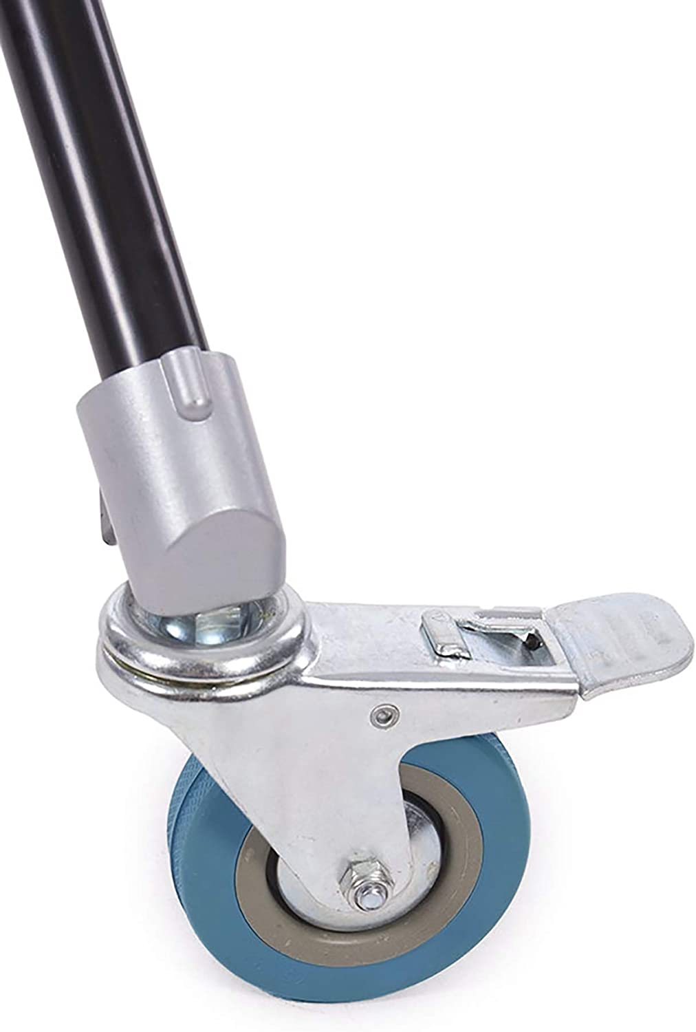 360 Swivel Easy-Glide Rubber Wheels Steel Construction 1x Photography /& Video Light Stand Caster Wheels - Pack of 3 Fovitec Step-On Locks
