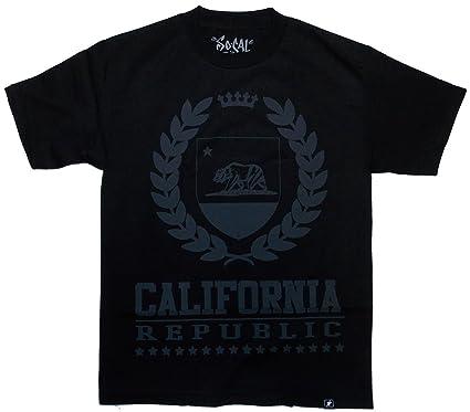 So Cal Clothing >> Amazon Com So Cal Clothing Men S Cali Republic Sheild T Shirt Tee