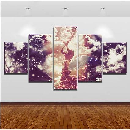 Mddrr Wall Art Imagen Modular 5 Piezas Ataque En Titán ...