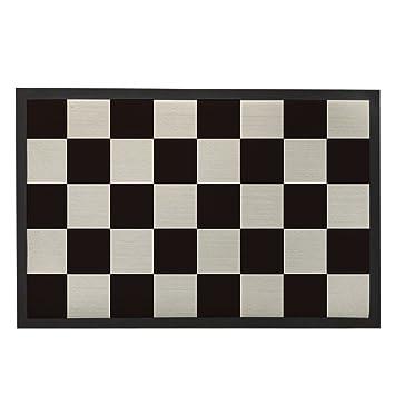 Top Amazon.de: Schwarz und Weiß Fußmatte Fußmatte Innen Schachbrett  RK95