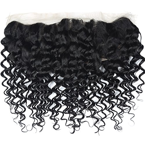 Angie Queen Brazilian Virgin Human Hair Deep Wave 13X4 Ear to Ear Lace Frontal Closure Natural Color (20) from Angie Queen