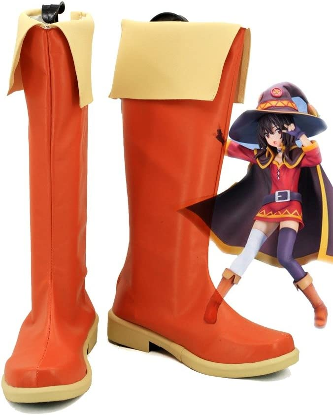 Telacos KonoSuba Gods Blessing on This Wonderful World Megumin Cosplay Shoes Boots Custom Made