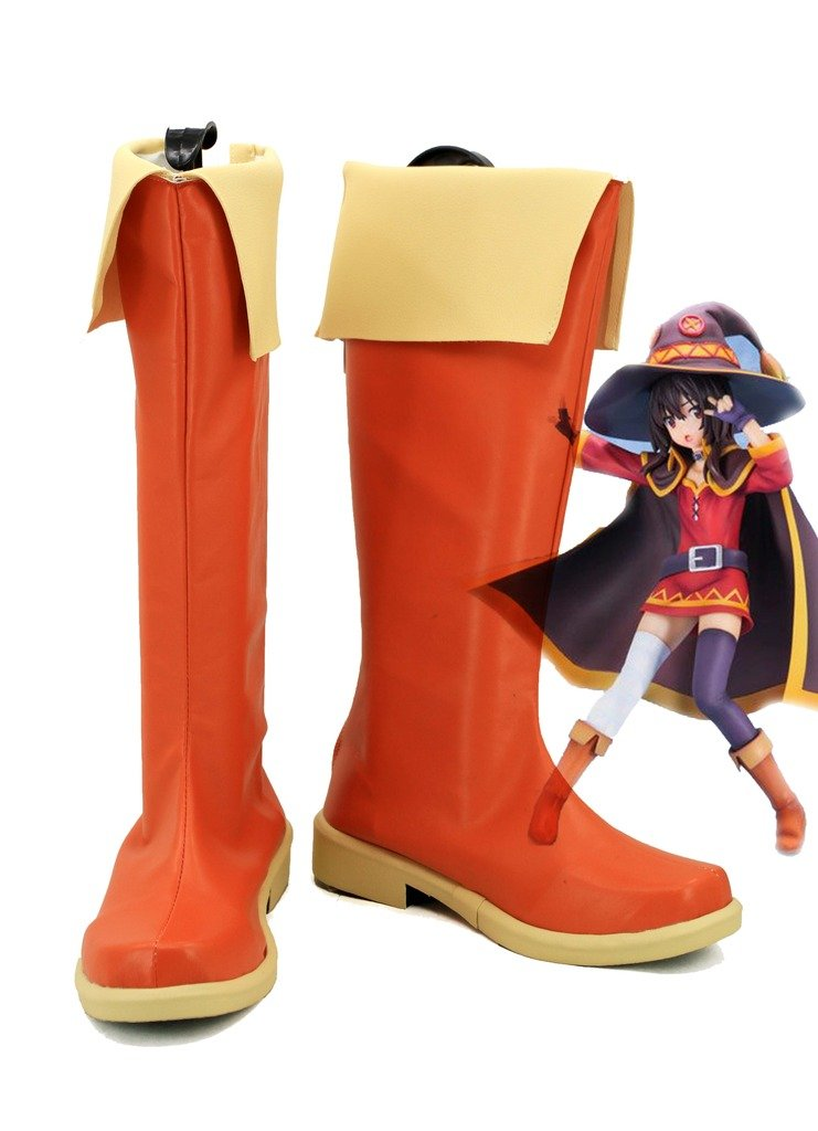 KonoSuba: Gods Blessing on this Wonderful World! Megumin Cosplay Shoes Boots Custom Made by Telacos