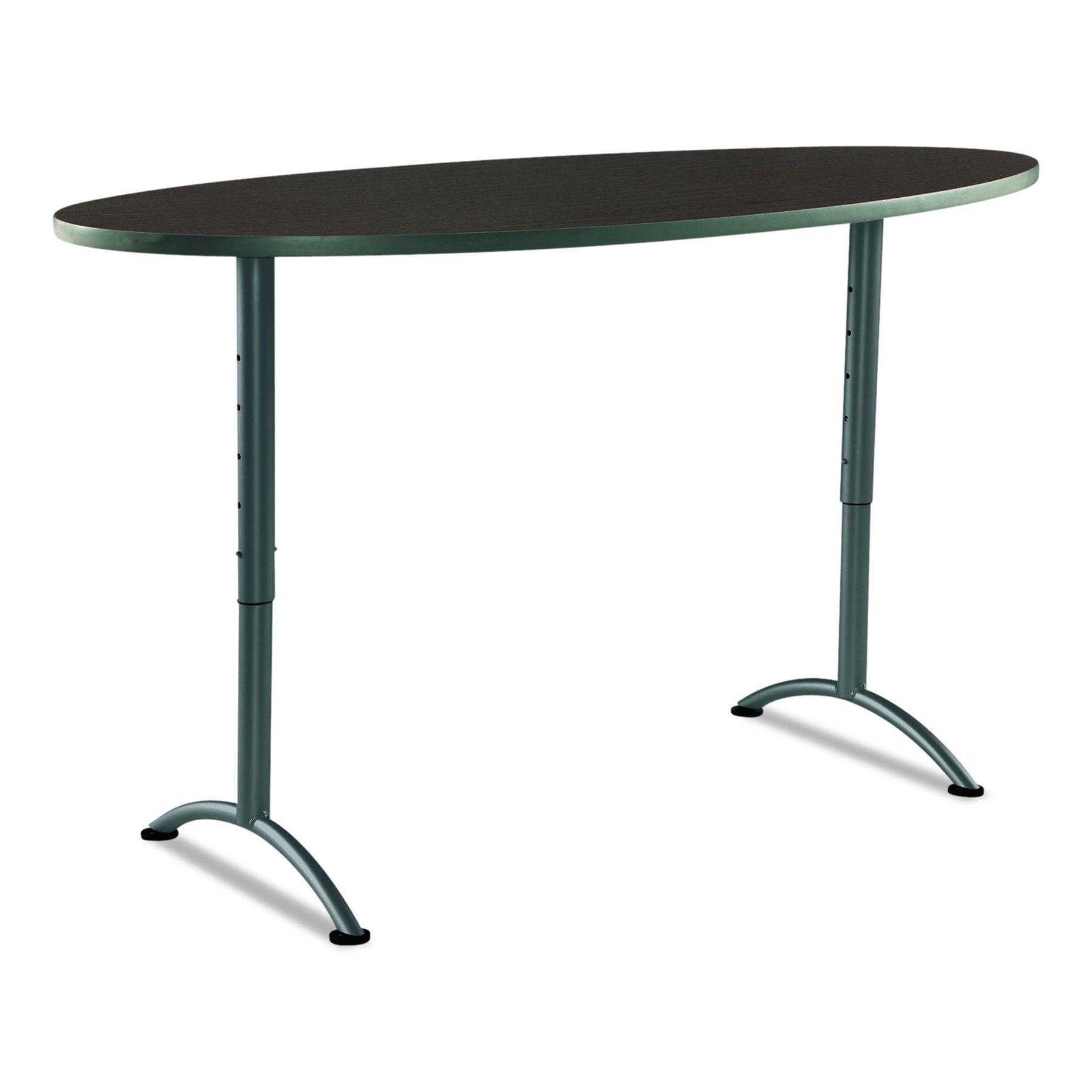 Iceberg ICE69624 ARC 6-foot Adjustable Height Oval Conference Table, 36'' x 72'', Walnut/Gray Leg by Iceberg