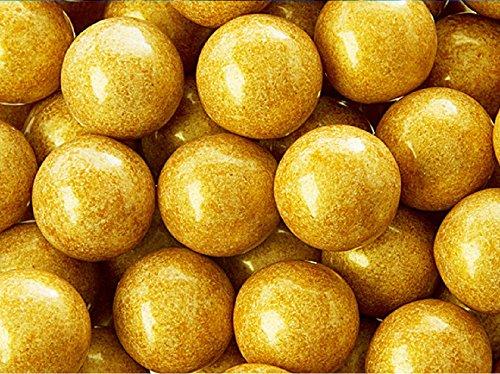 Shimmer Pearlescent Gold 1 Inch Gumballs 1 LB -
