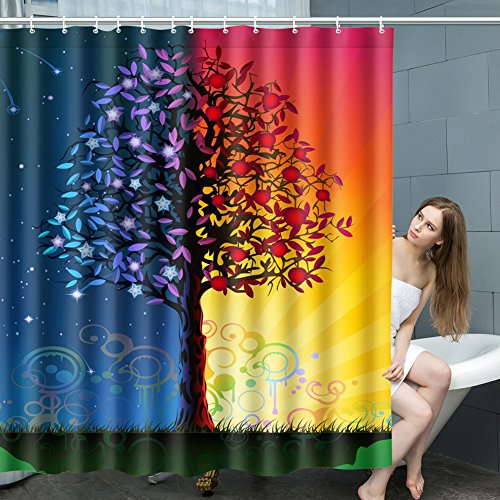 HappyDoggy Durable Fashion Waterproof & Eco-Friendly Sacred Tree of Life Shower Curtain Width X Height / 72 X 72 Inches / W H 180 By180 (Cool Halloween Sayings)