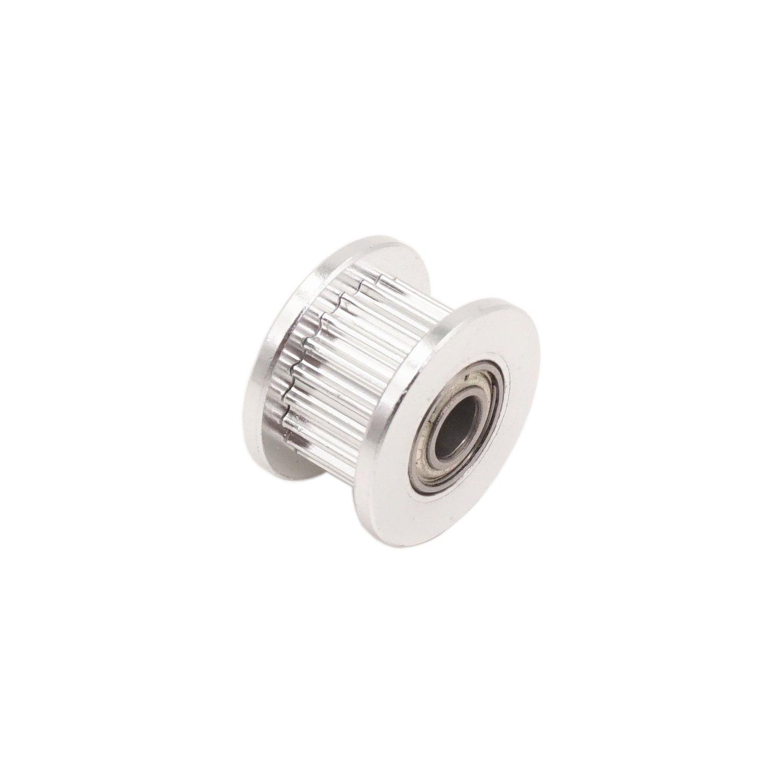 WINSINN 2GT GT2 Aluminum Timing Belt Idler Pulley 20 Teeth Tooth 4mm Bore for 3D Printer 6mm Width Timing Belt (Pack of 5Pcs) by WINSINN (Image #3)