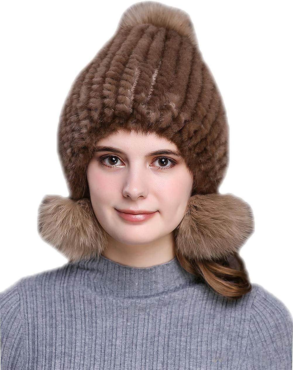 Women's Real Mink Fur Hat...