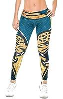Jacksonville Jaguars Football Leggings NFL Yoga Pants Women's Compression Tights