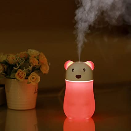 Home-usb Charging Bowling Humidifier Aroma Diffuser Led Night Light Home Office Car Decoration Gift Orange Household Appliances Humidifiers