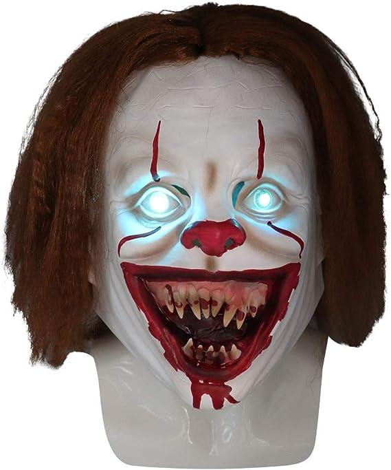 XUMING Es Pennywise Máscara Payaso, Disfraz de Halloween de Miedo, Látex no tóxico, Peluca Realista para Adultos de Fiesta Decoración Cosplay: Amazon.es: Deportes y aire libre