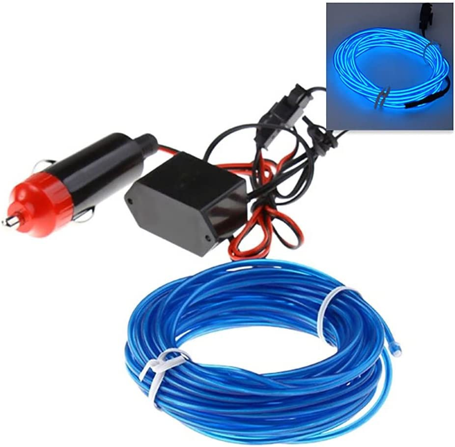 DIY Neon Light El Wire Powered Battery 3V AA 3M 5M Flexible Rope Strip Light