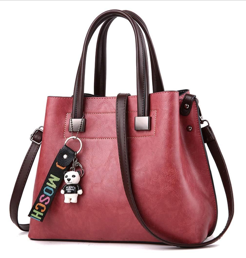 RSQJ Damen Handtaschen einfarbig große Kapazität Taschen