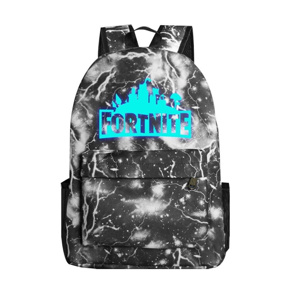 Leegoal Unisex Fortnite Backpack Schoolbag Luminous Galaxy School Backpack Fortnite