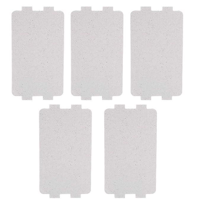 5PCS Mica Placas Hojas Repuesto de Reparación de Reemplazo de Mica de Placa de Horno de Microondas (4.6 * 2.5 pulgadas)