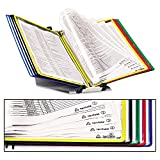 Tarifold, Inc. D291F Foldfive Desk Unit w/Display Pockets, 10 Pockets, 5 Tabs
